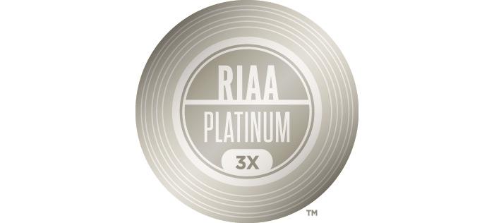 RIAA_Platinum_x3_700