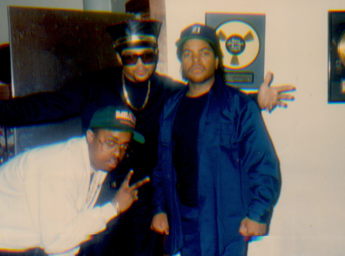 Sir-Jinx, DMC & Ice Cube, 1990 (Courtesy of Sir Jinx)